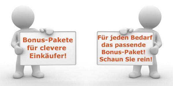 Auftraggeber600 Bonus Pakete für Auftraggeber