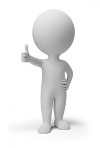 Daumen hoch2 204x300 Service Paket Produktionsagentur für Auftraggeber